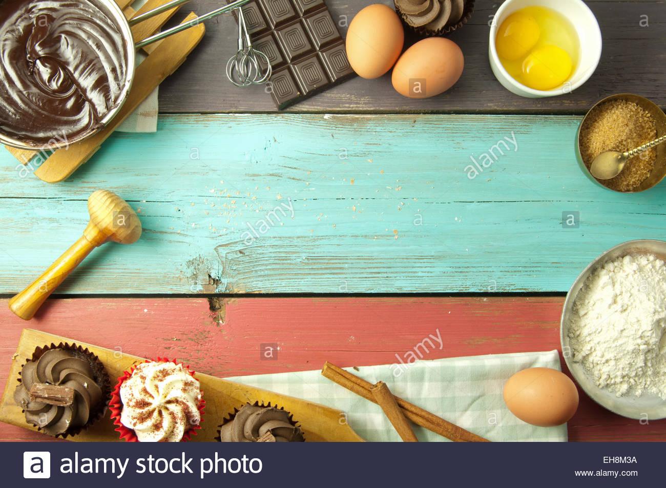 Baking a new recipe background Stock Photo 79482014   Alamy 1300x953