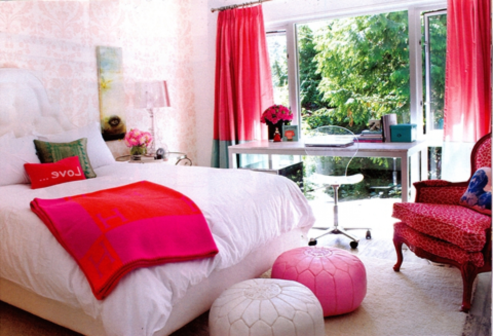 Furniture Bedroom Astounding Pink And Green Girl Room 1600x1090