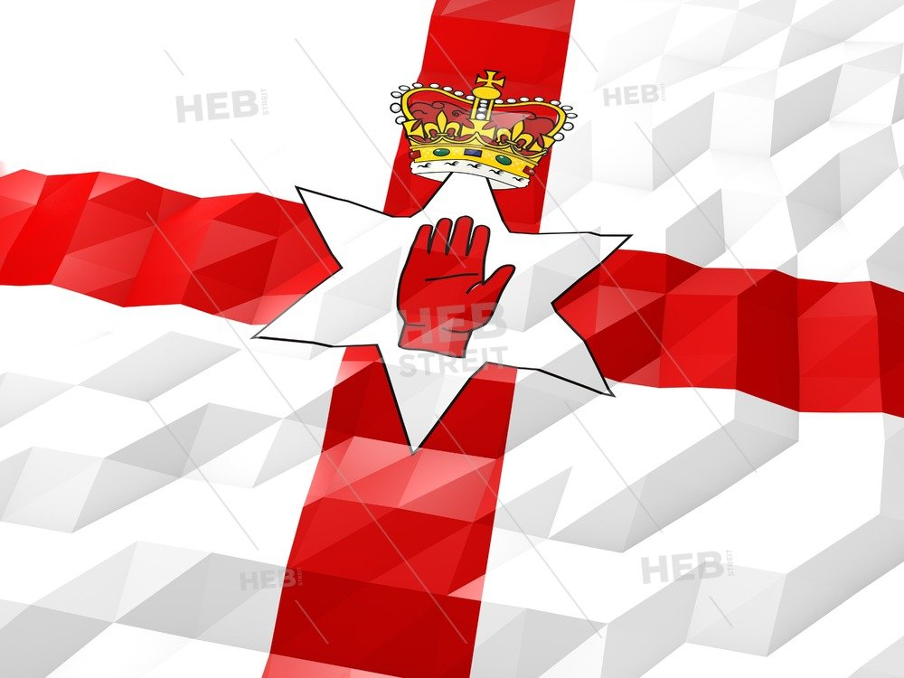 Flag of Northern Ireland 3D Wallpaper Illustration HEBSTREITS 1280x960