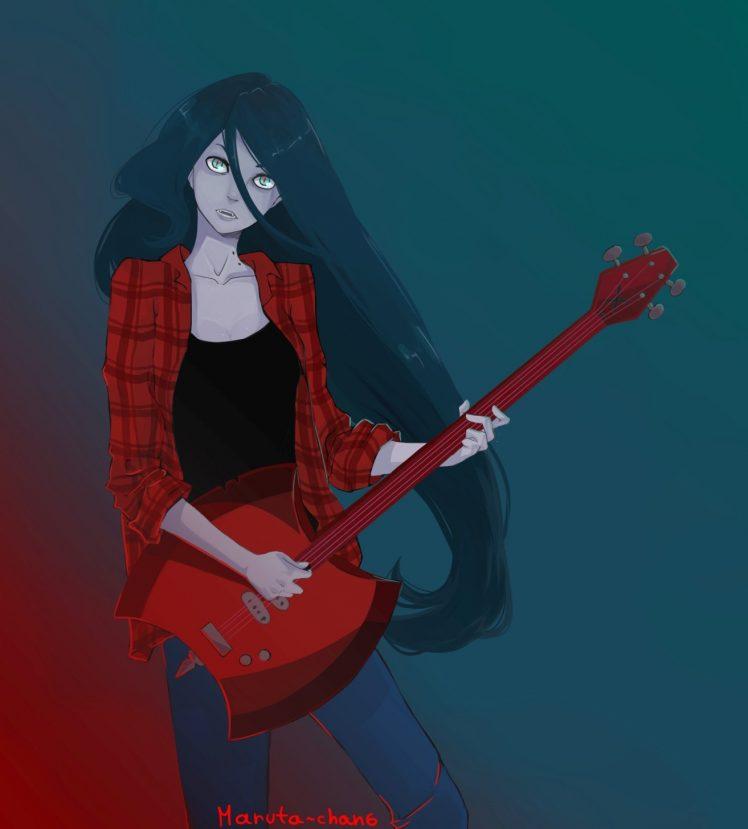 Marceline the vampire queen Cartoon Adventure Time Wallpapers HD 748x829