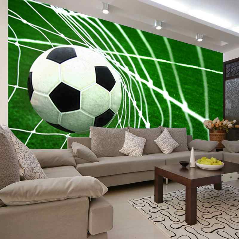 Photo wallpaper 3D football goal scene wallpaper childrens 800x800