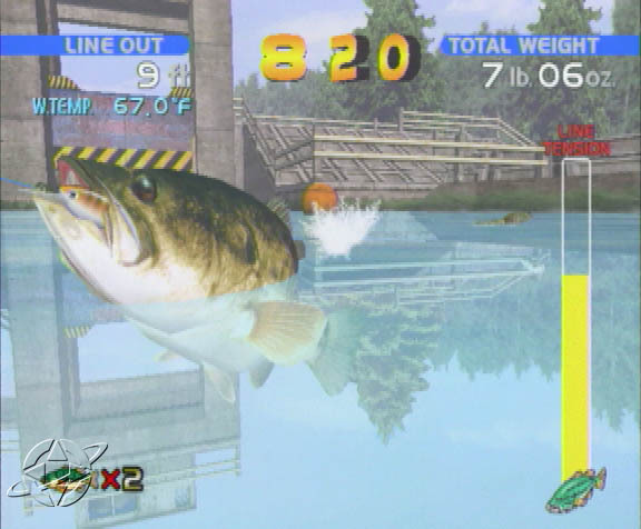 bass fishing wallpaper border