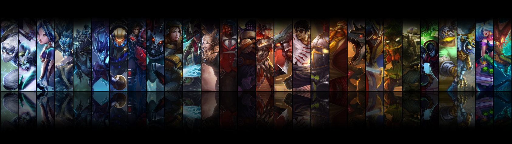 League of Legends Dual Screen Wallpaper by beNN94 1685x474
