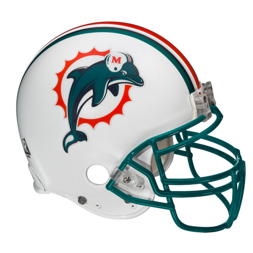 The NFL Report Top 10 Helmet Designs Miami Dolphins 512x512