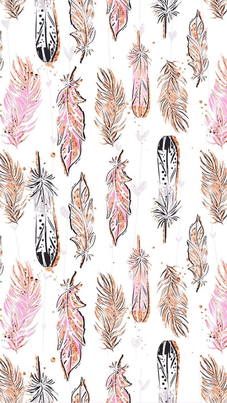 feathers pattern boho bohemian background backgrounds 750x1333