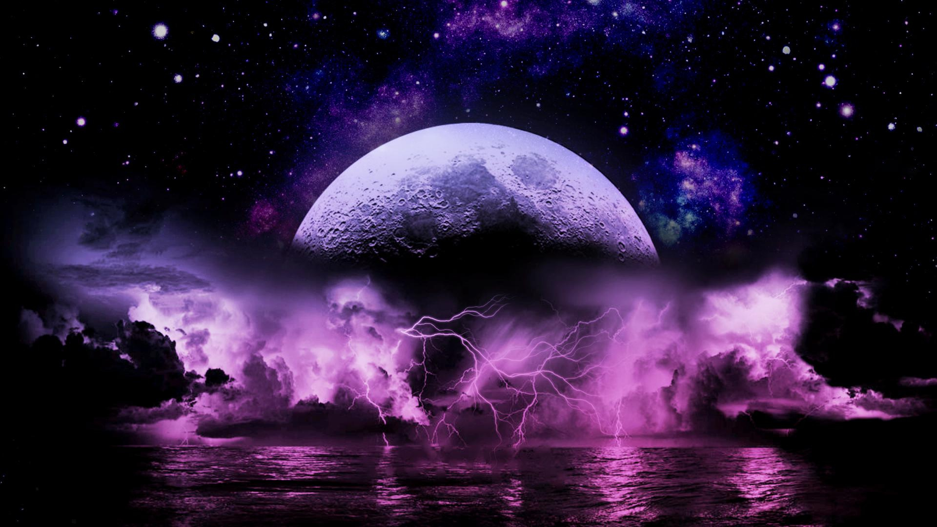 Wallpapers For Purple Lightning Storm Wallpaper 1920x1080