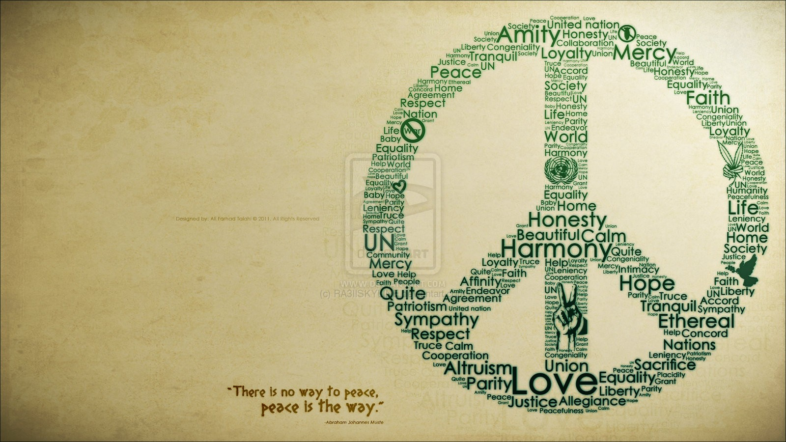 Text Peace Wallpaper 1600x900 Text Peace Typography Life 1600x900