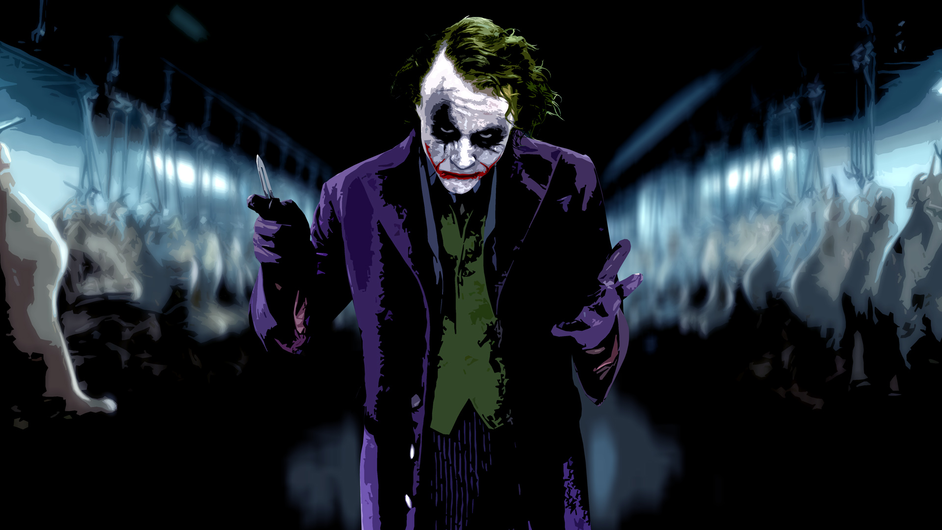 The Joker Heath Ledger Wallpaper 1920x1080