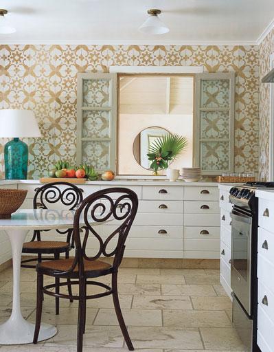 wall wallpaper design   Country kitchen wallpaper design ideas photos 399x512