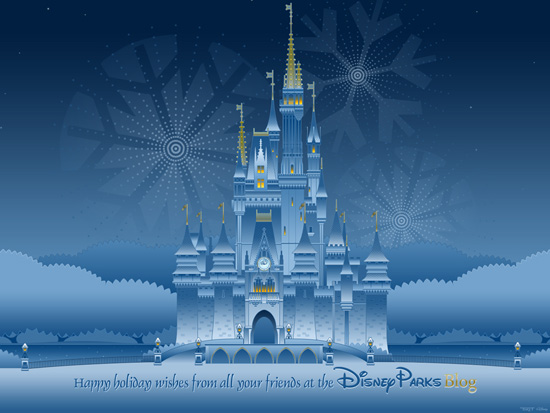 Our Disney Parks Happy Holidays Wallpaper Disney Parks Blog 550x413
