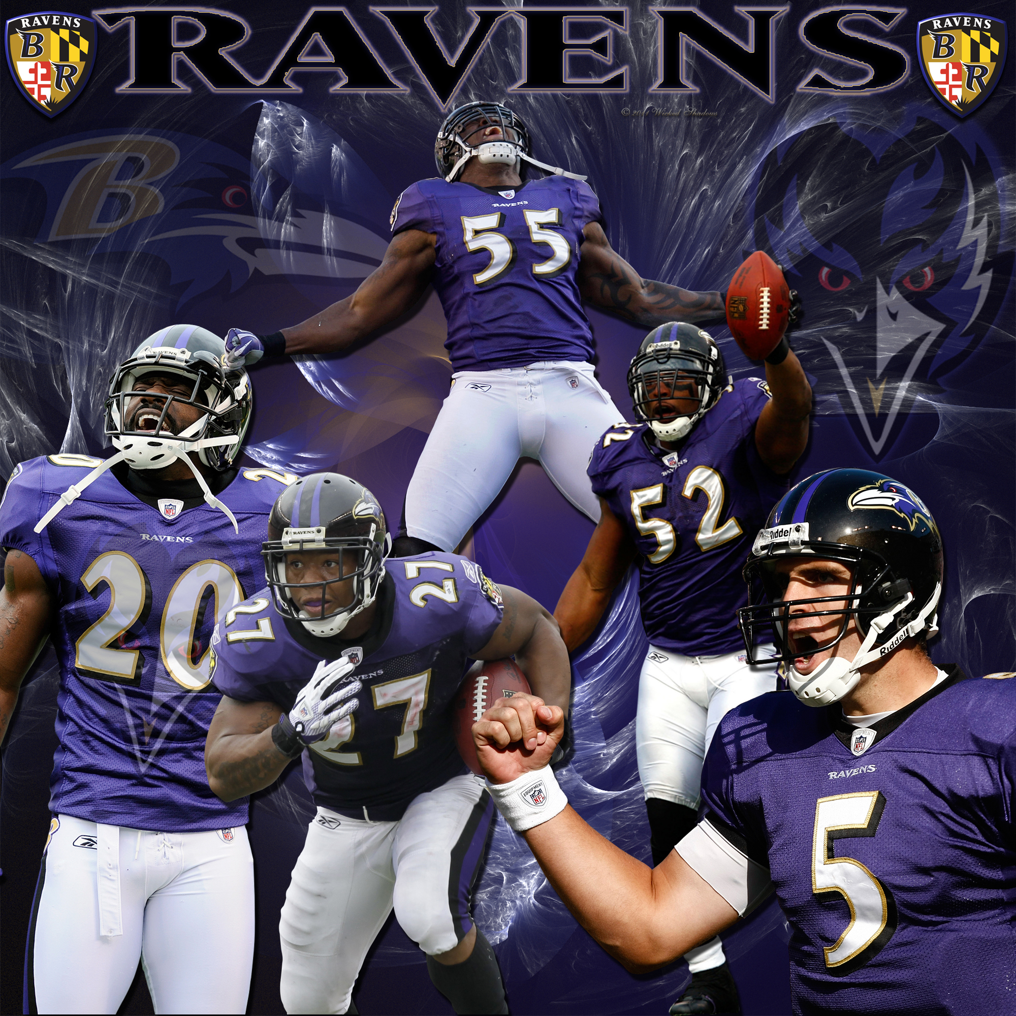 Wallpaper Ed Reed Terrell Suggs Ray Lewis Download 2000x2000