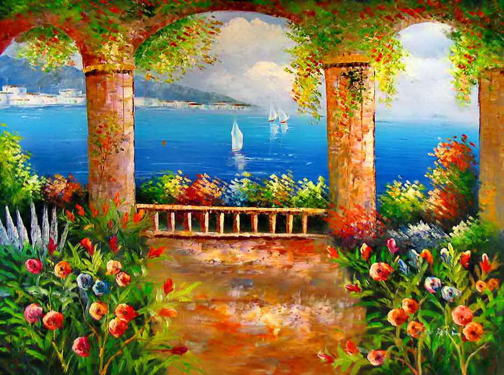 Mediterranean Wallpaper Wallpapersafari