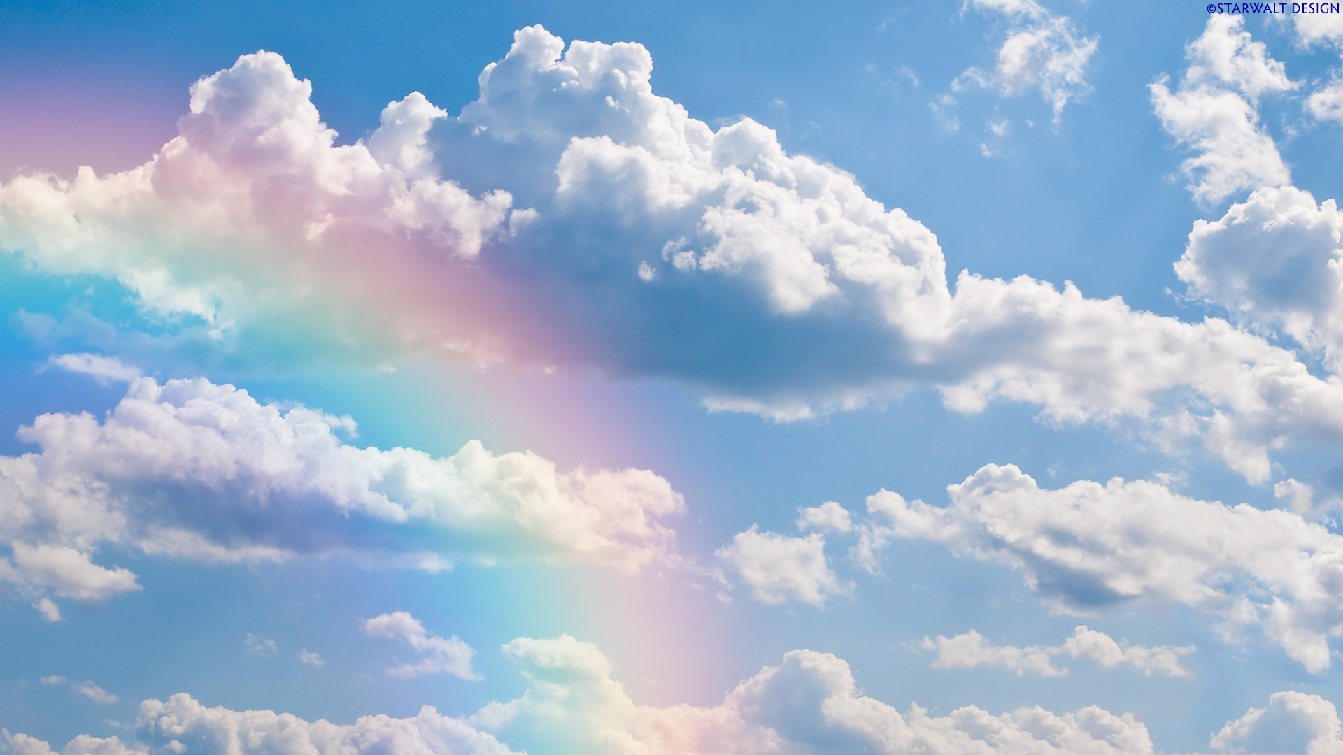 Rainbow Sky Wallpaper HD Dekstop 1920x1080