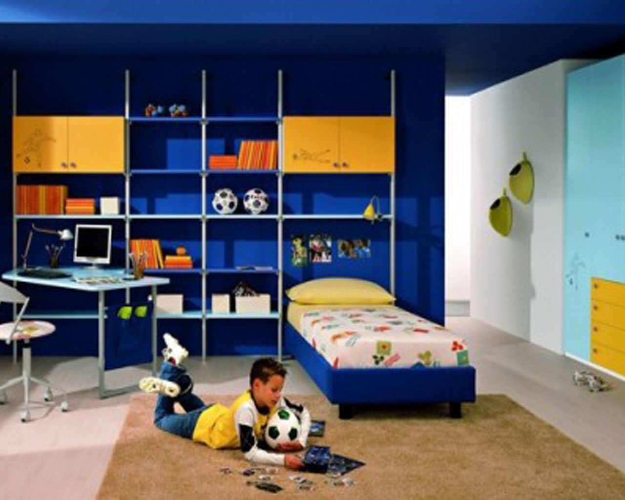 Wallpaper for teenage boys room wallpapersafari - Bedroom designs for kids children ...