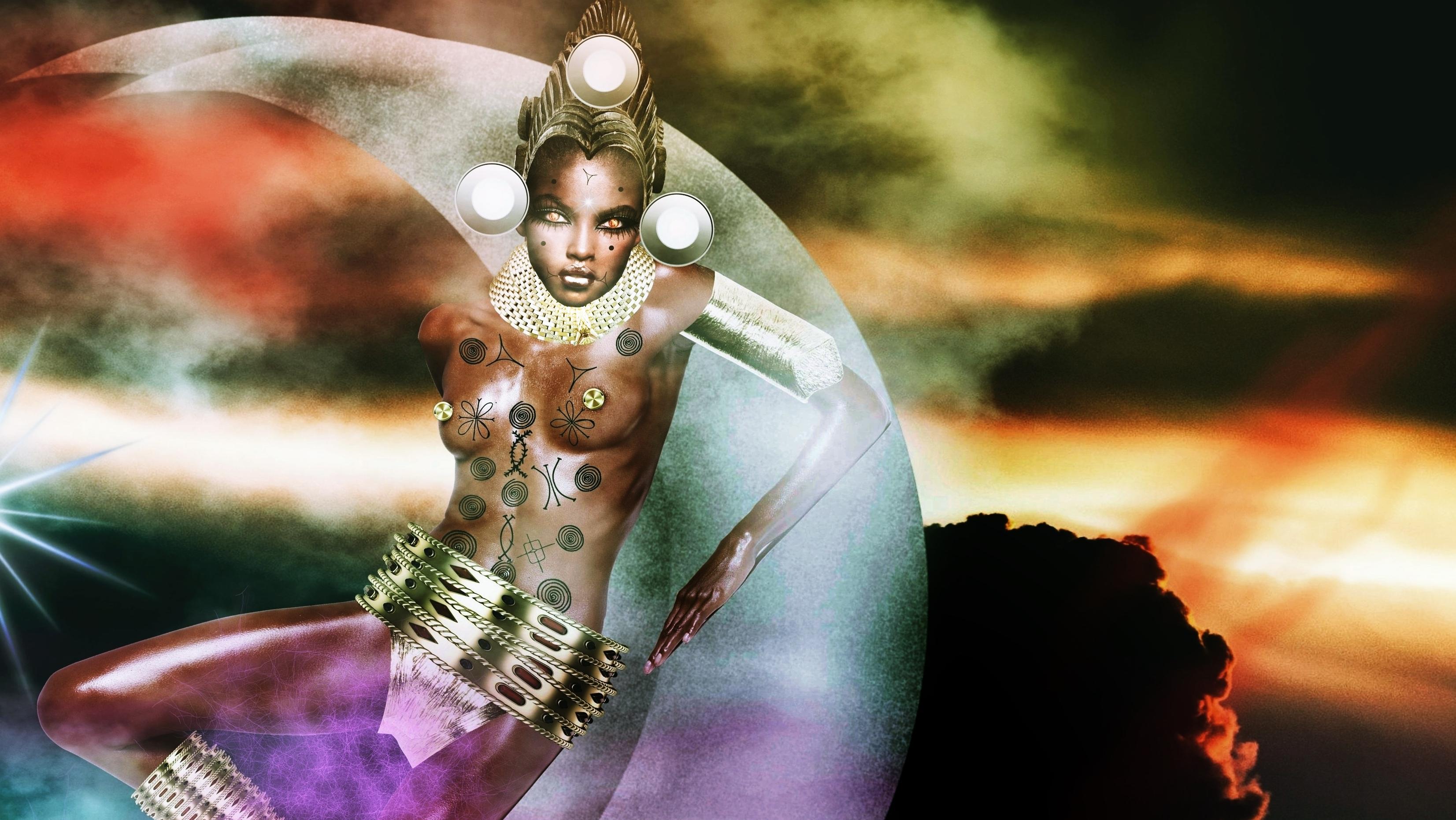 Sirius Ugo Art images African Goddess Ala Ani Ana Inanna Oma 3305x1860