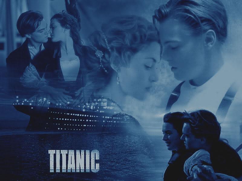 Titanic Wallpaper monochrome blue Background