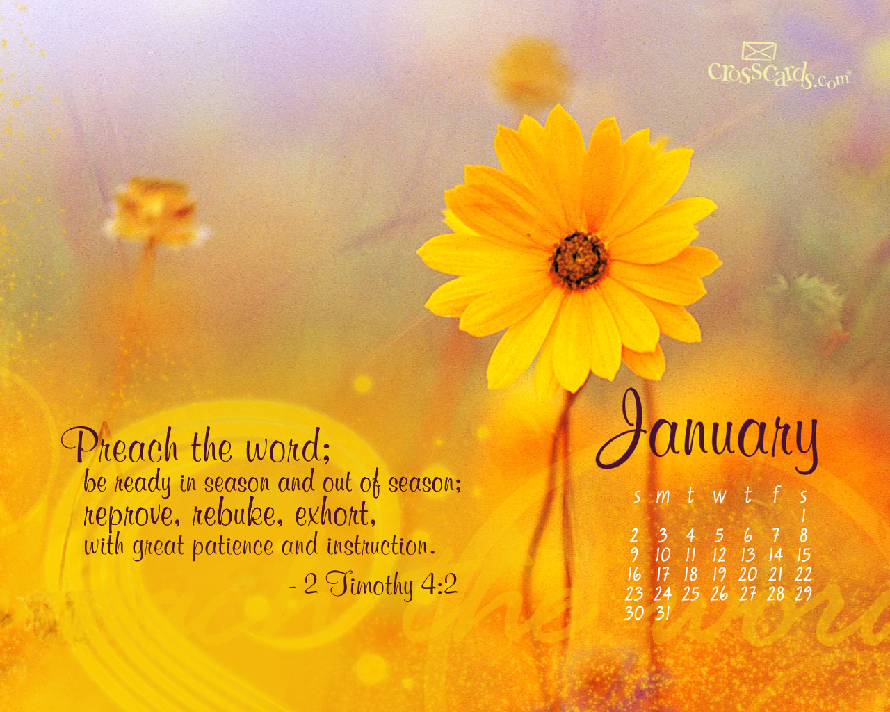 CrossCards Wallpaper Monthly Calendars January 2015 1280x1024