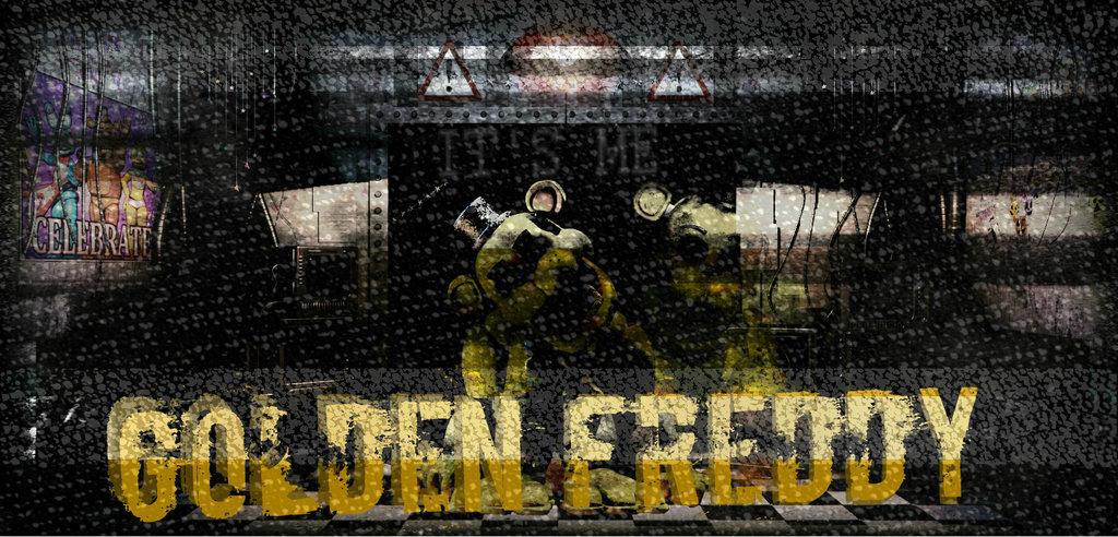 Golden Freddy Wallpaper Attempt by opal2116 1024x492