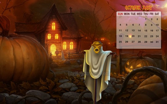 Month wise Calender Wallpapers Halloween   October Calendar 2015 541x338