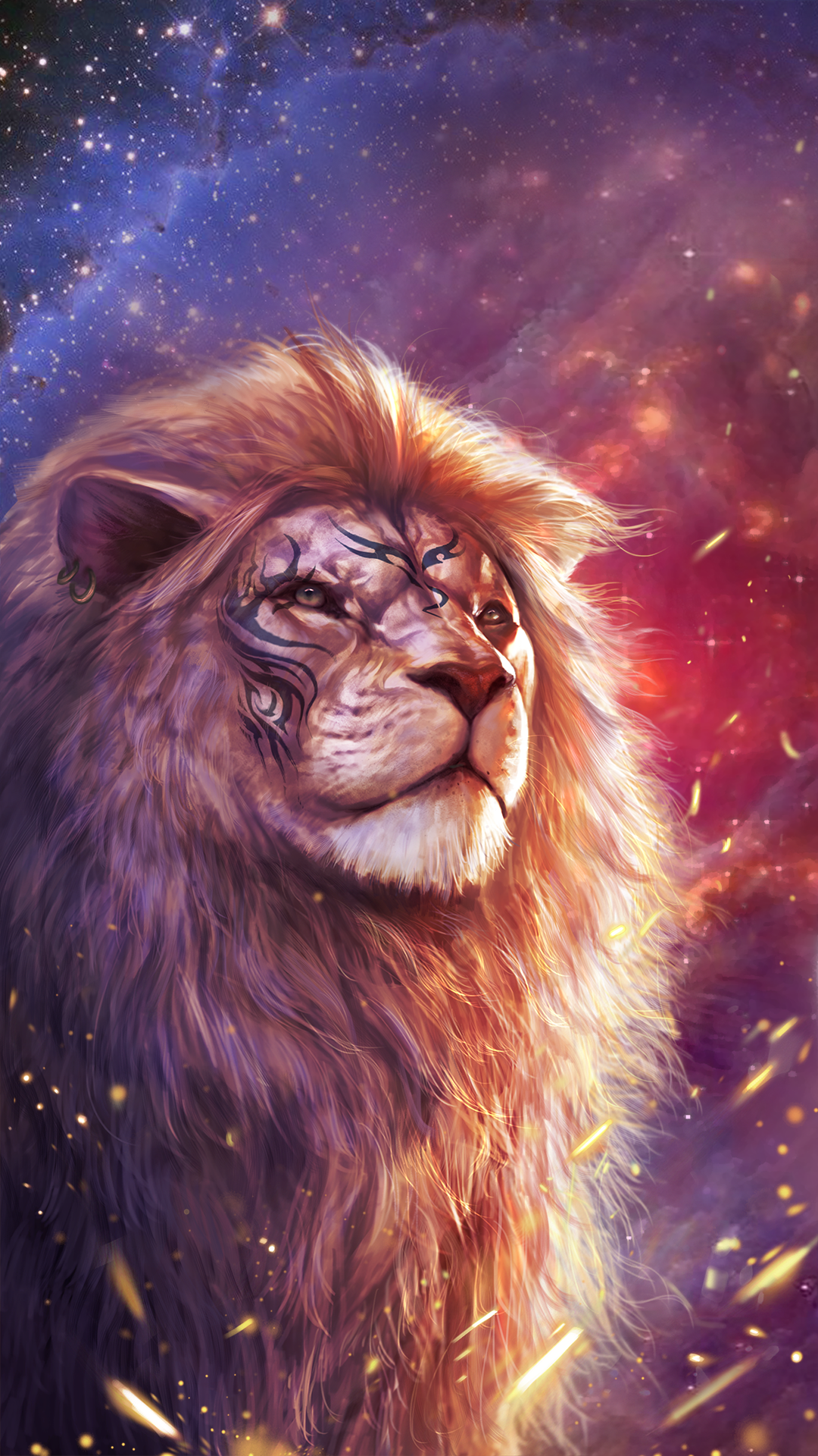 Cool lion wallpaper with totem tattoo Animal Tattoos in 2019 1080x1920