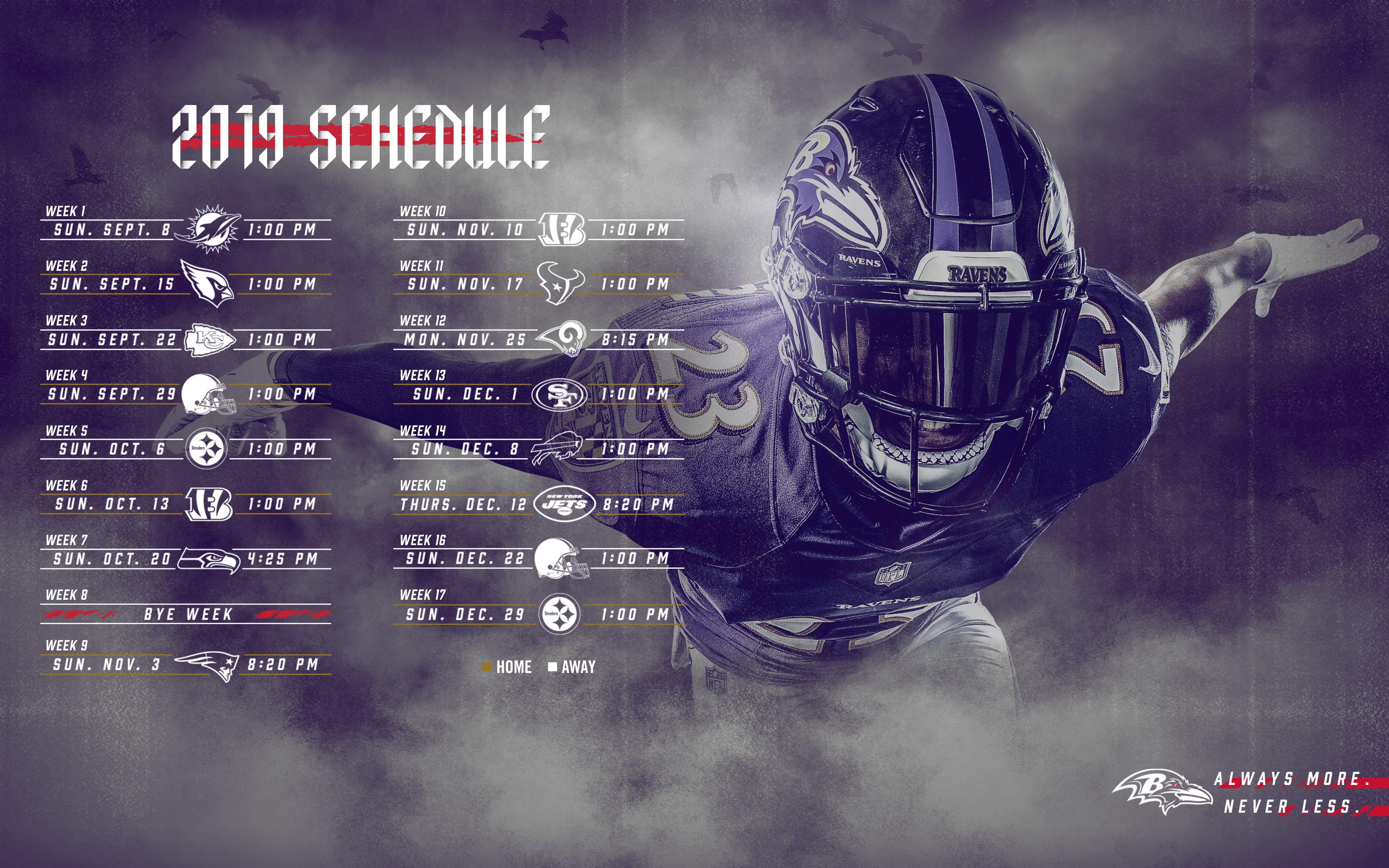 Ravens Wallpapers Baltimore Ravens baltimoreravenscom 4800x3000