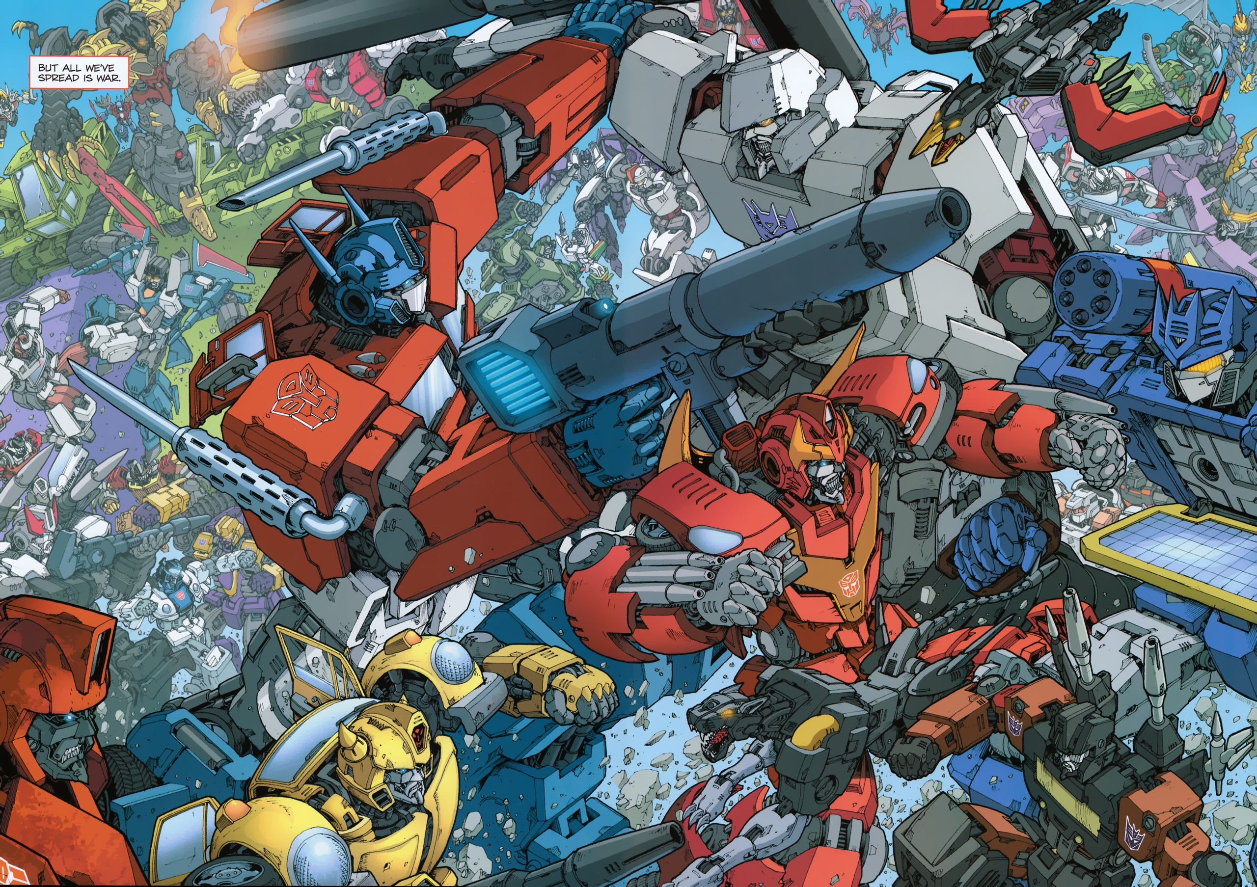 transformers 2010 panel new comic inside cover issue high resolution 2560x1807