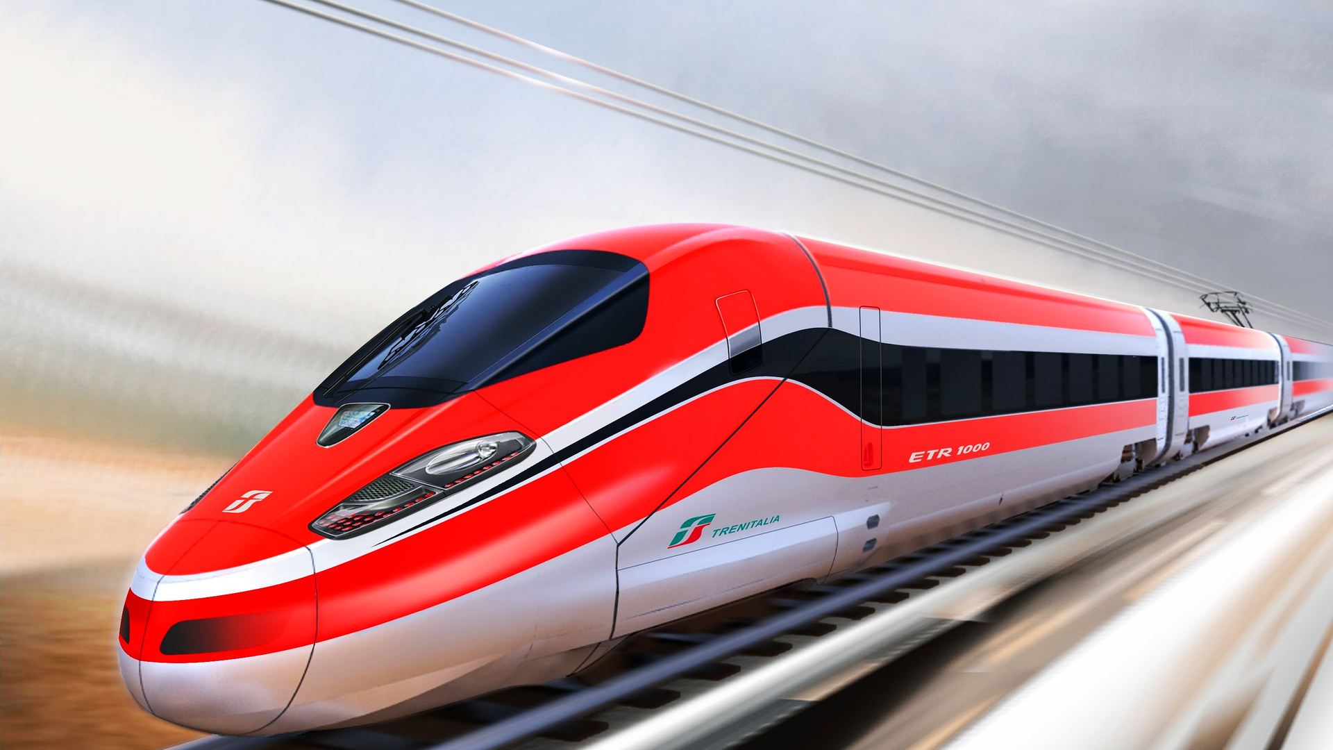 1920x1080 Trenitalia Train Red Speed Train Bullet Train 1920x1080