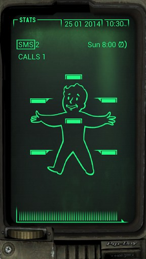 iphone pip boy fallout pipboy iphone wallpaper wallpapersafari 8453
