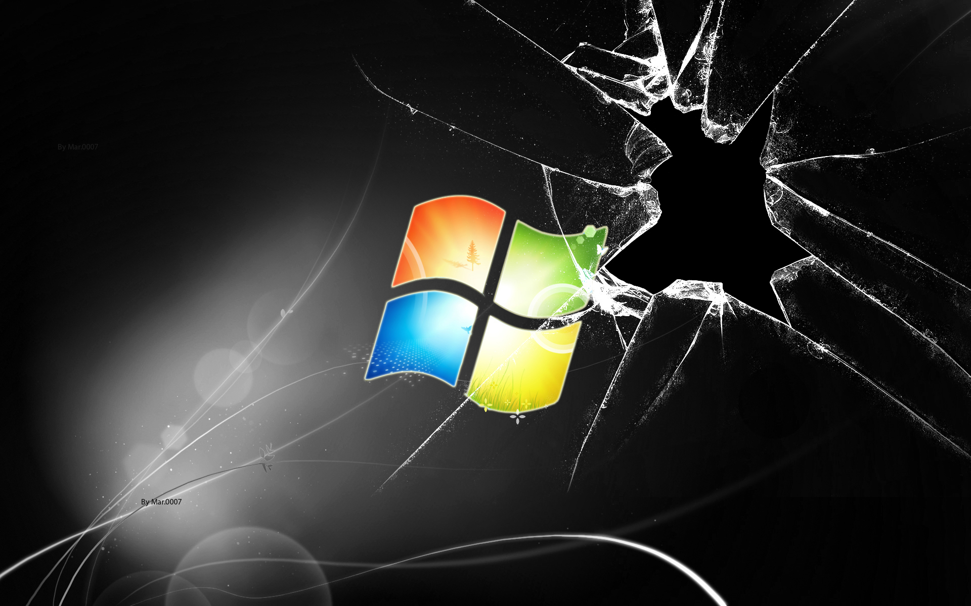 Cracked Screen Black Windows Exclusive HD Wallpapers 2258 1920x1200