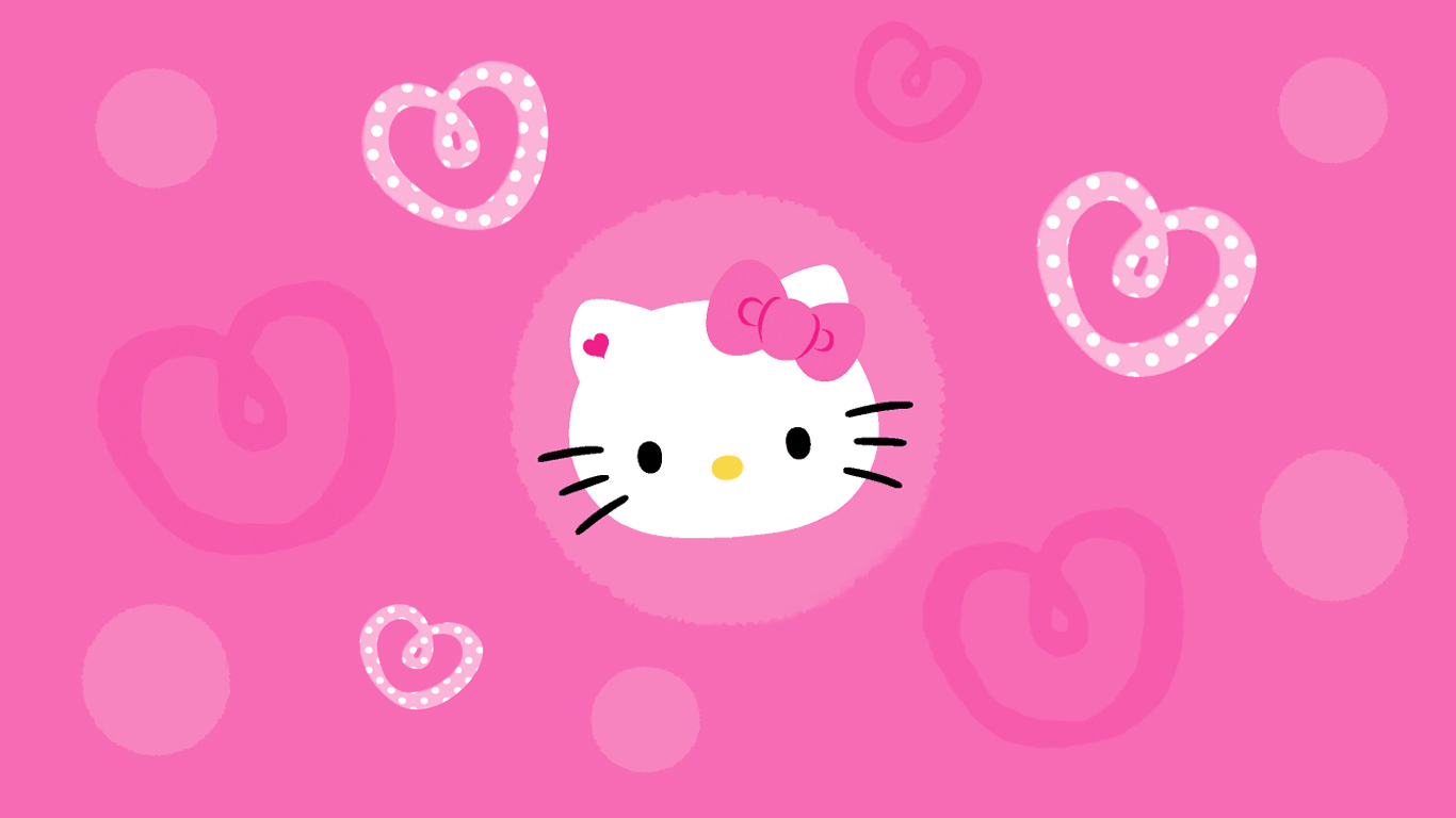 hello kitty wallpaper hello kitty hello kitty wallpaper pink 1366x768