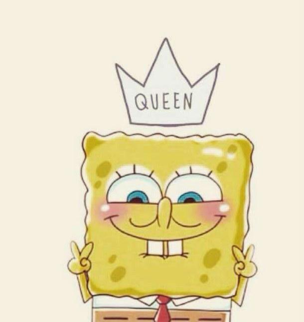 background queen spongebob tumblr wallpaper 610x645