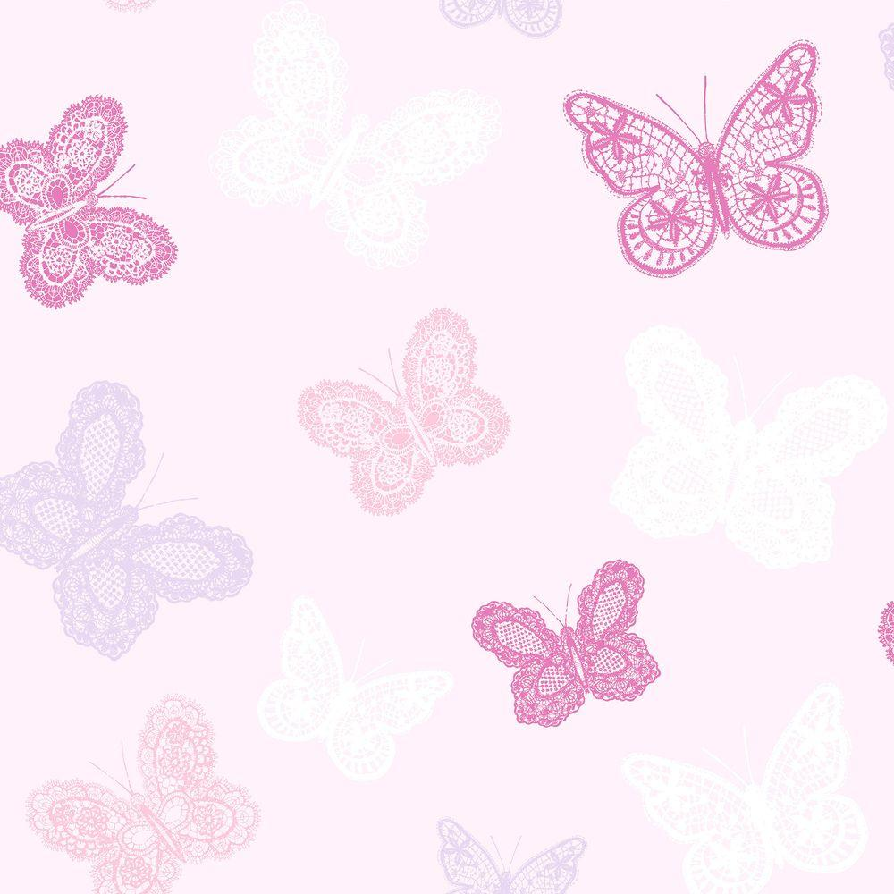 Graham Brown Pink Butterfly Wallpaper 100114   The Home Depot 1000x1000