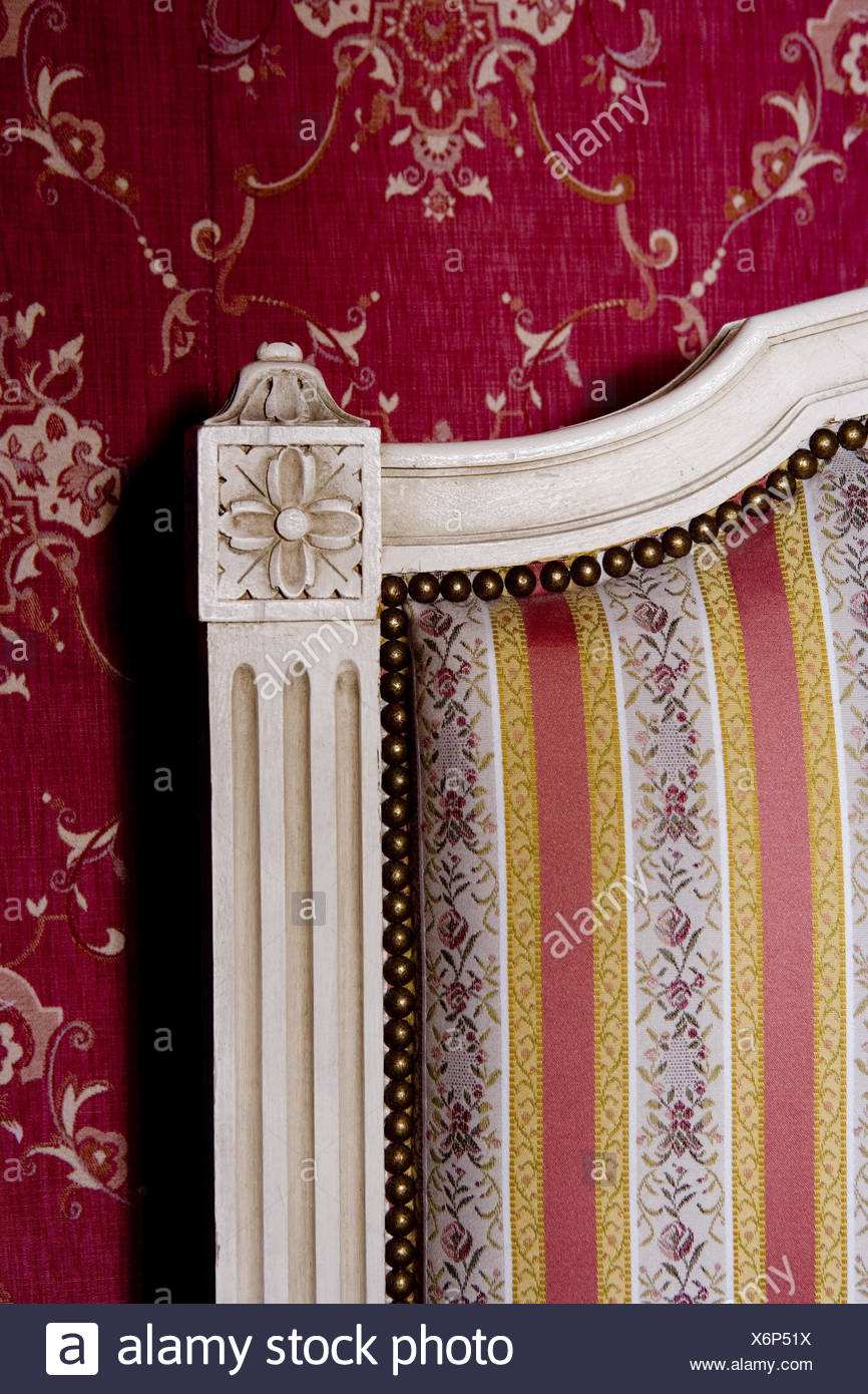 Upholstered bed textile wallpaper detail Stock Photo 279540742 866x1390