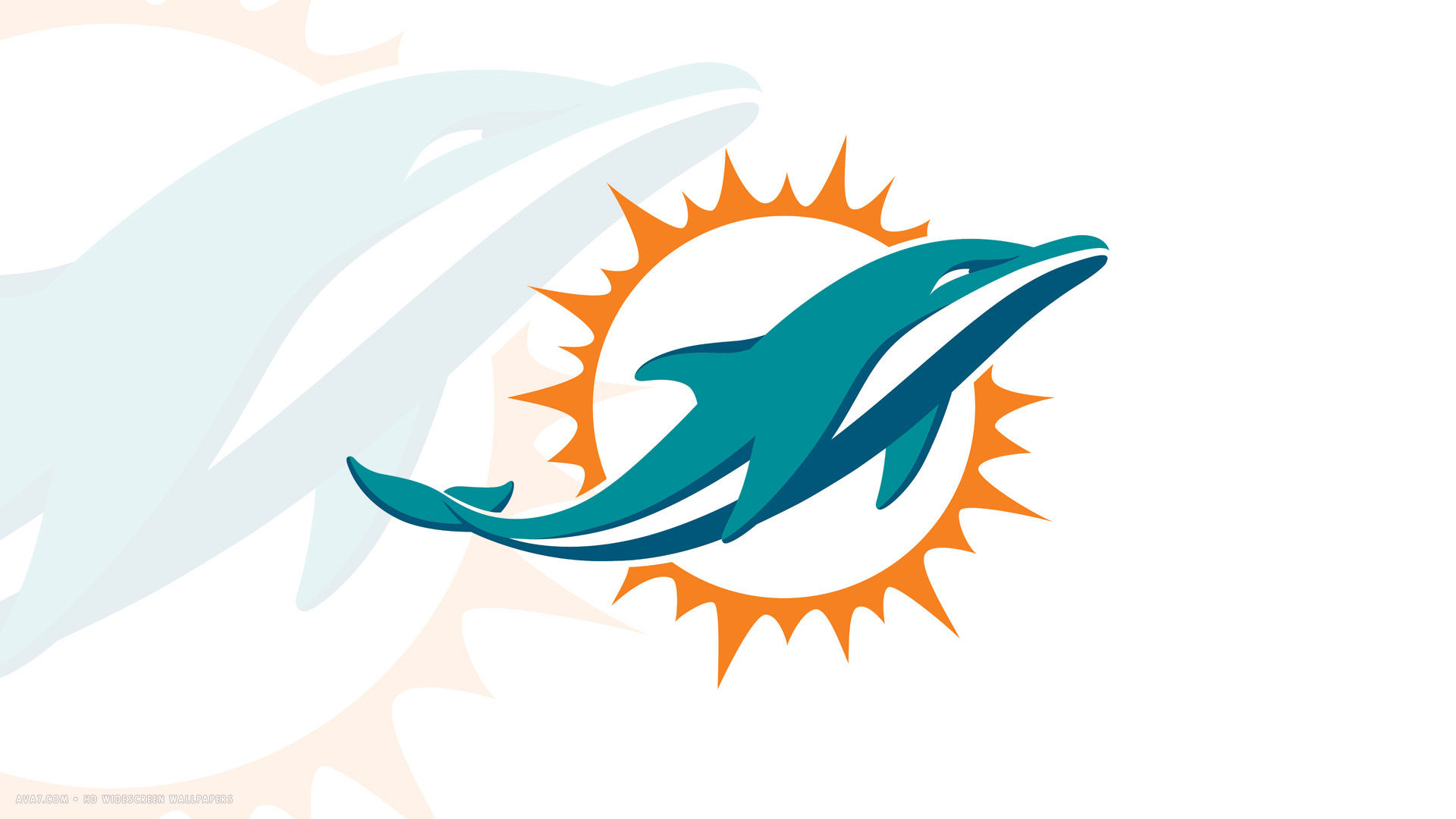 miami dolphins new logo 1920x1080 hd widescreen wallpaper american 1920x1080