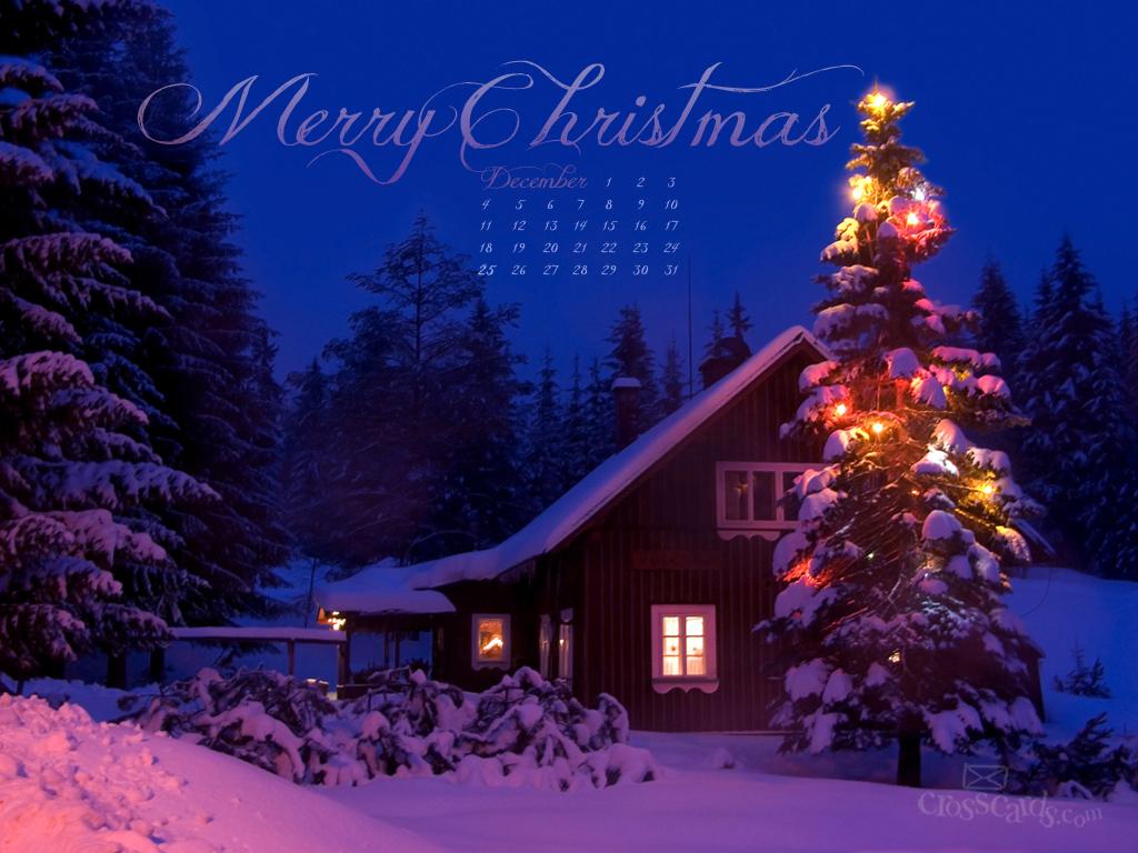 Merry Christmas Desktop Calendar  Monthly Calendars Wallpaper 1024x768