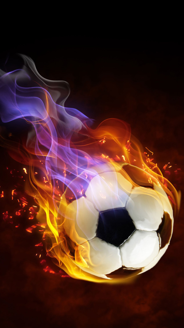 Football Fire iPhone Wallpaper   123mobileWallpaperscom 640x1136