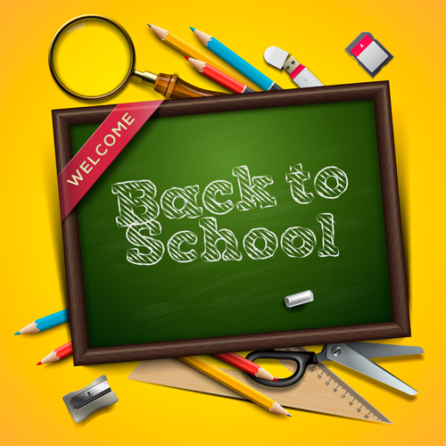 Back to school Creative background 07   Vector Background 500x500
