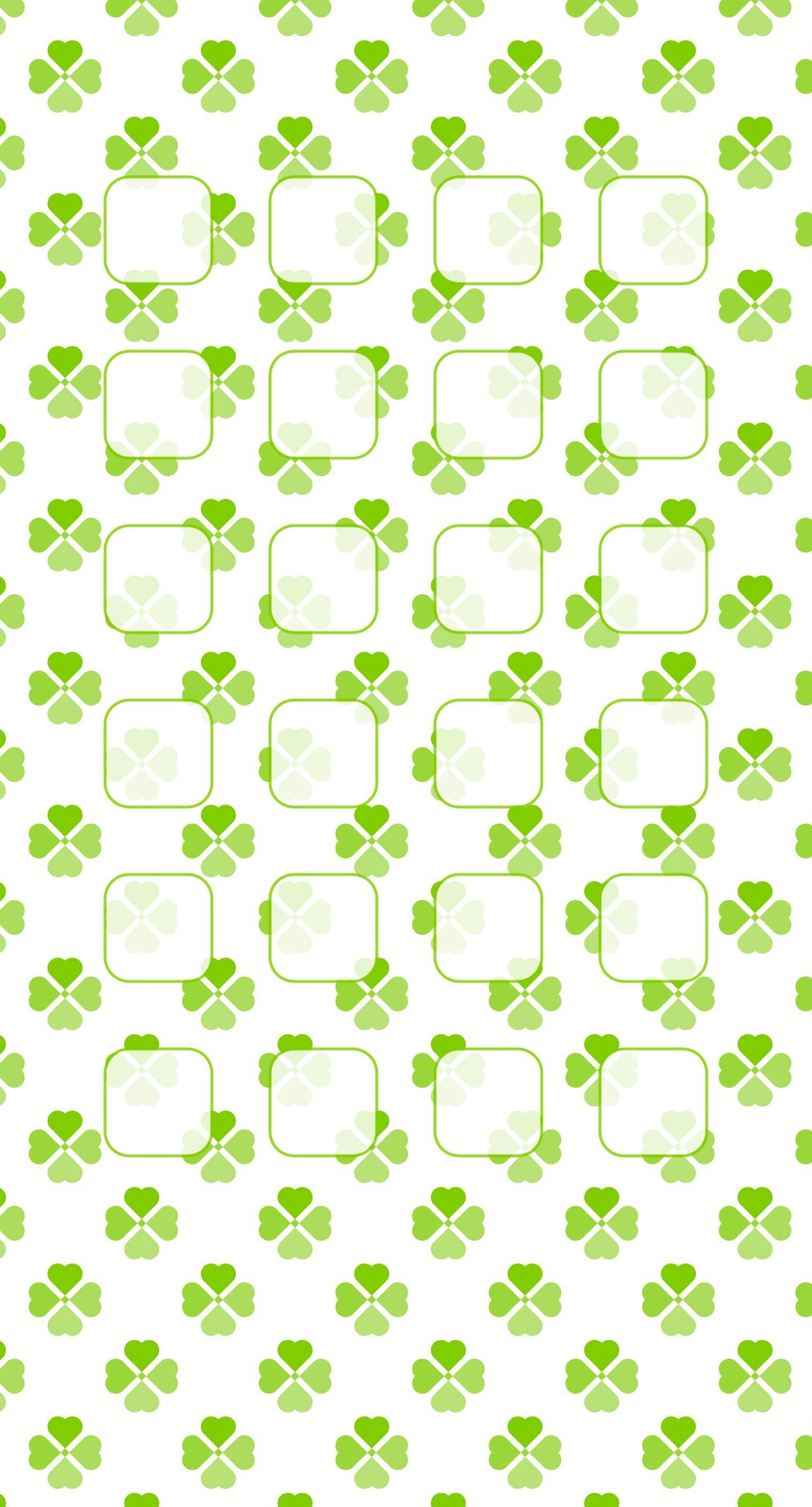 Clover pattern for girls shelf green wallpapersc iPhone7Plus 1398x2592