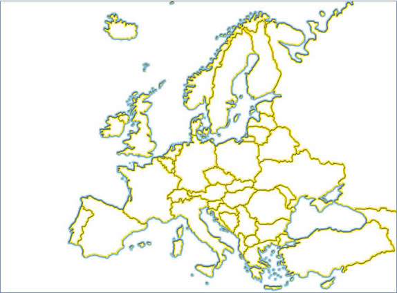 Map of Europe 574x424