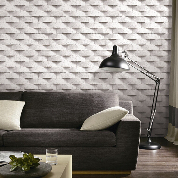 Brick 3D wallpaper grey beige stone wall paper papel de parede 3d 617x617