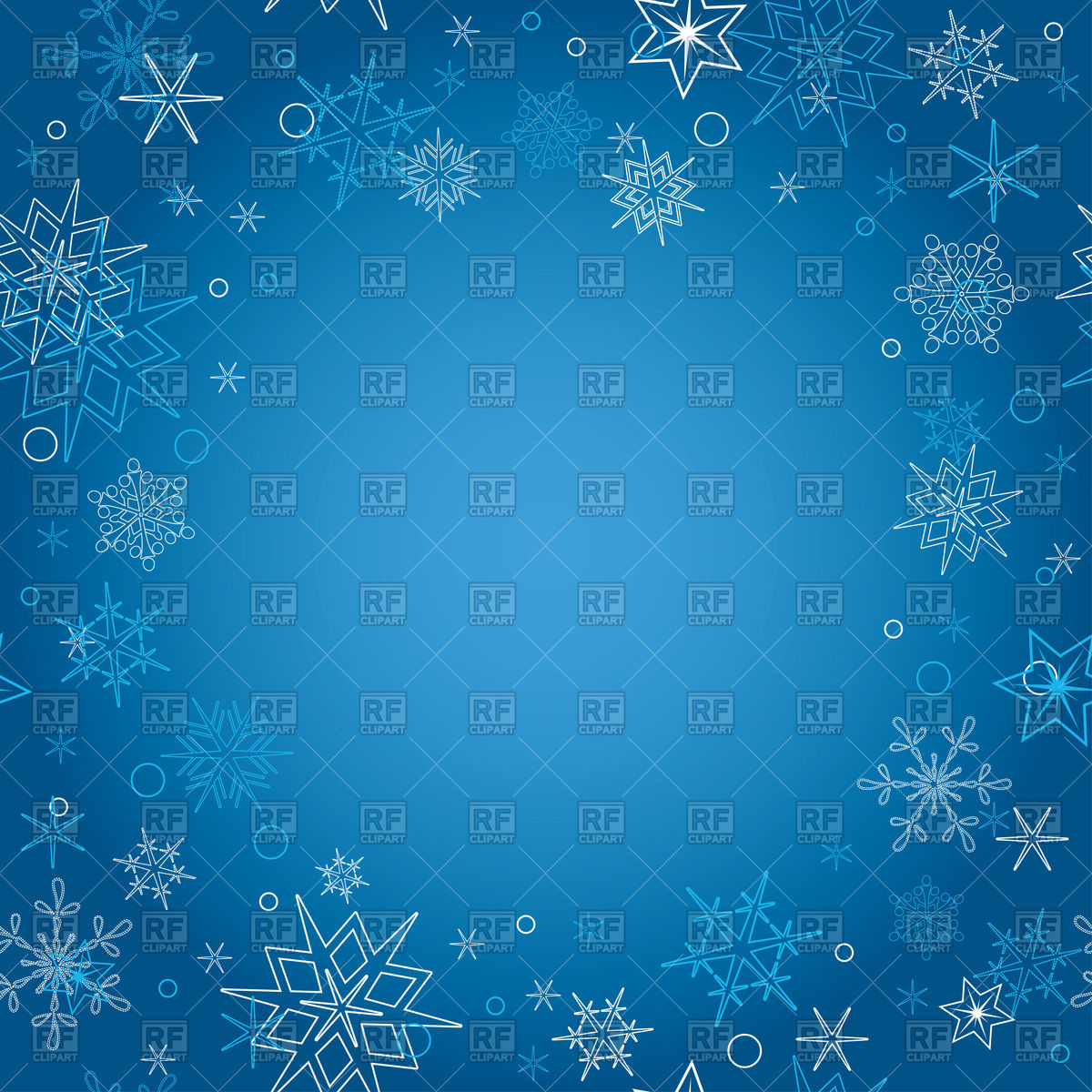 Blue christmas background with snowflakes Vector Image of 1200x1200