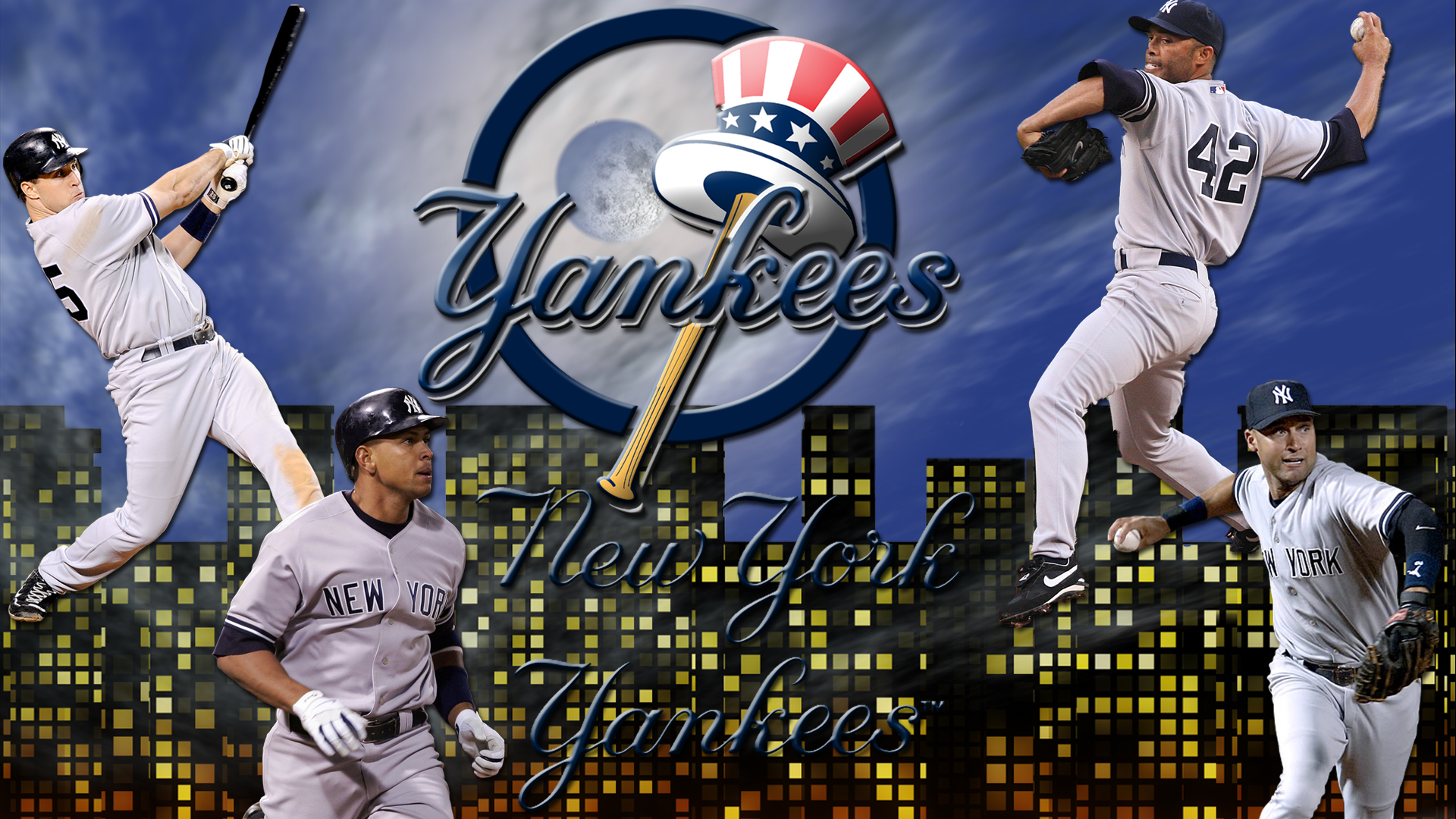 Wallpapers By Wicked Shadows New York Yankees Night Sky Wallpaper 1920x1080