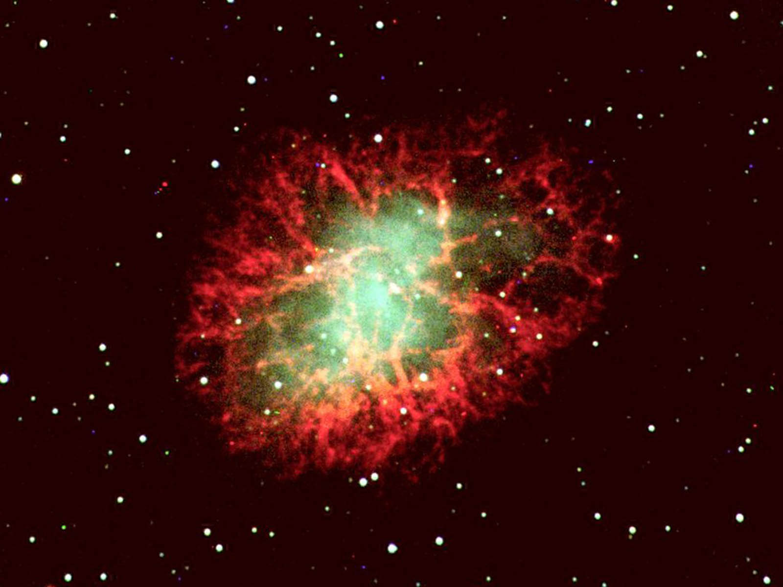 wallpaper Crab Nebula 1600x1200