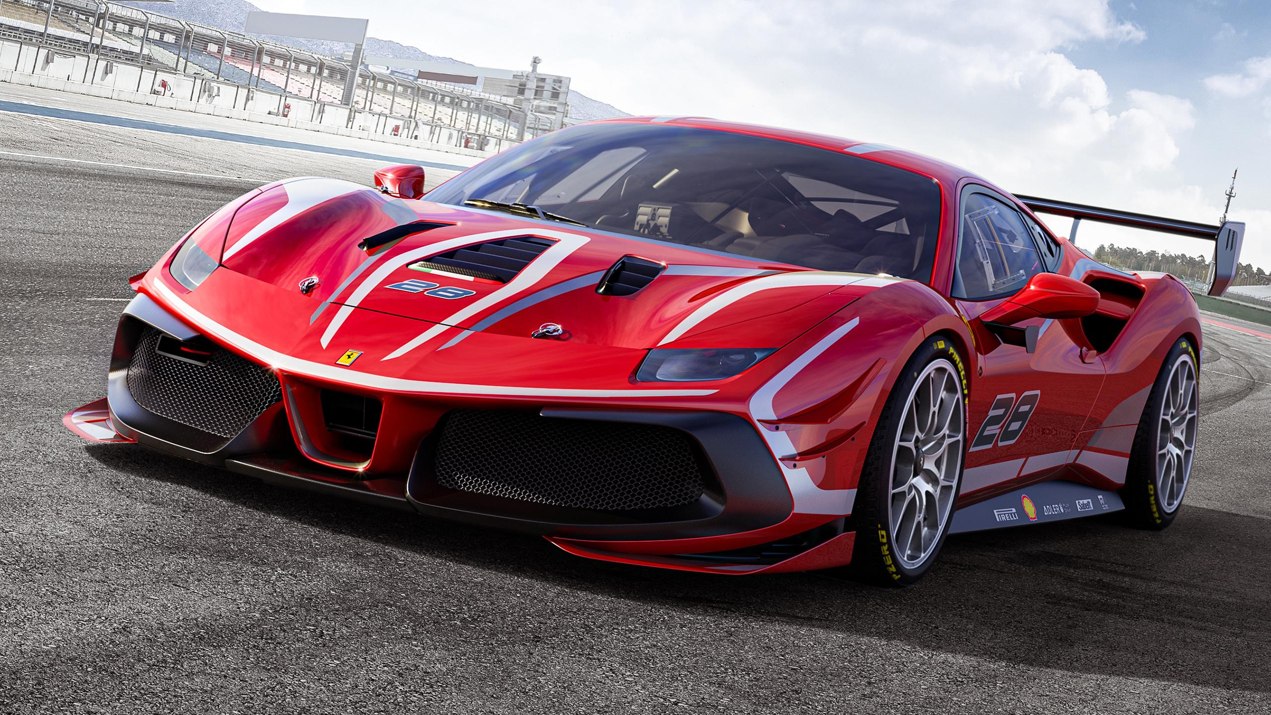 2020 Ferrari 488 Challenge Evo HD Wallpaper Background Image 2560x1440