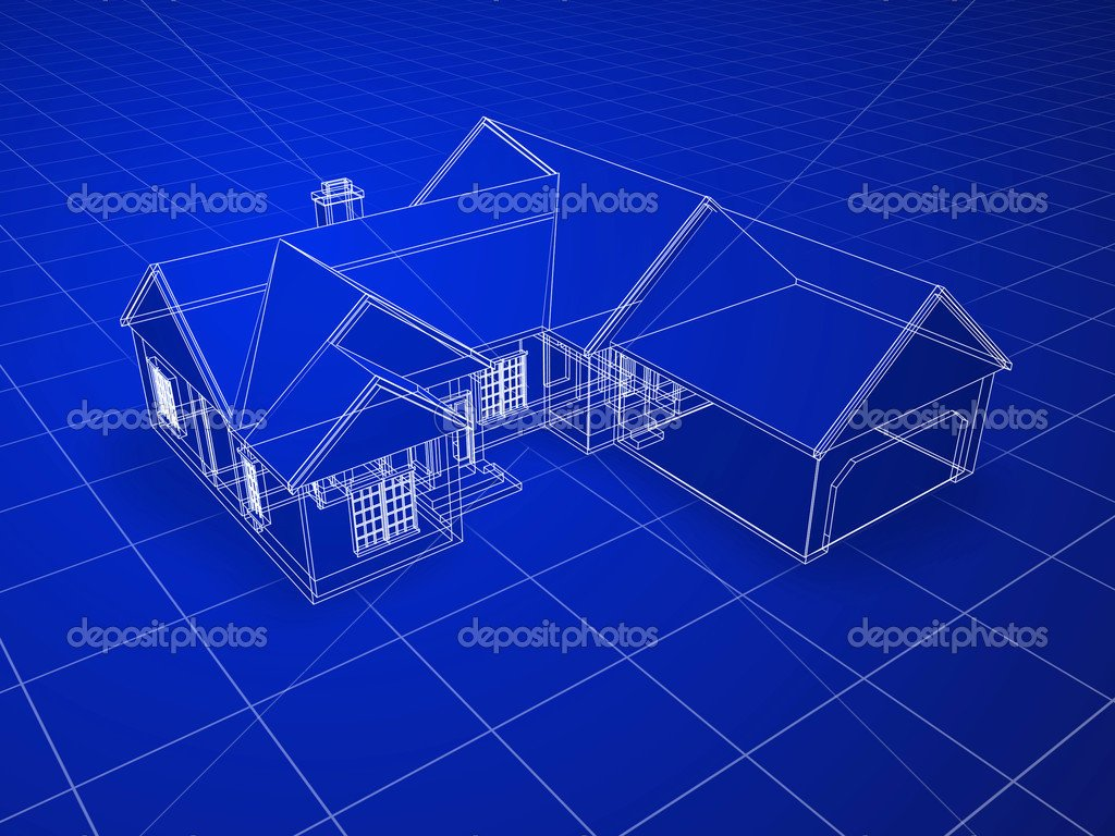 House Blueprint Background Blueprint House Stock Image 1024x768