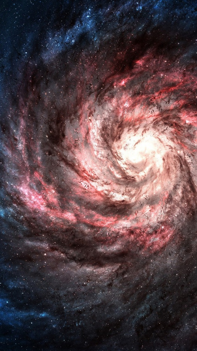 Spiral Galaxy Light iPhone 5 Wallpaper iPod Wallpaper HD 640x1136