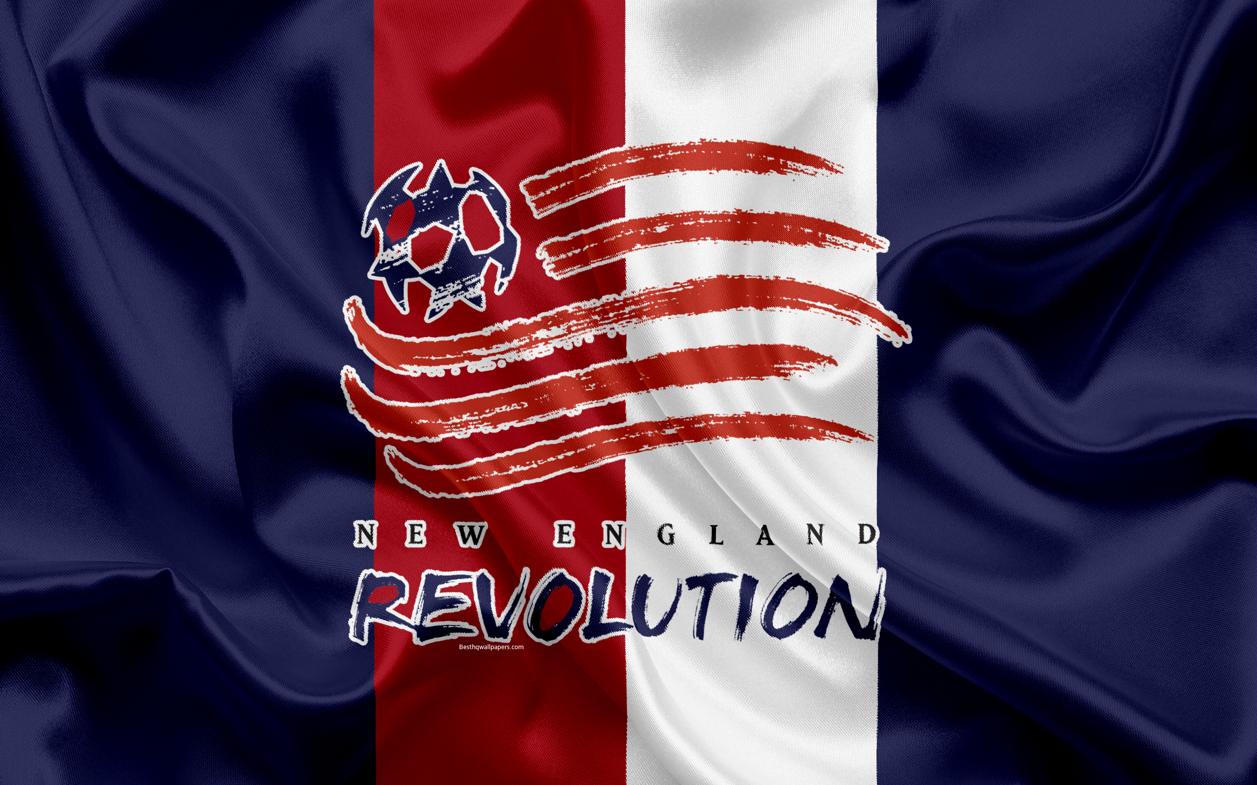 Download wallpapers New England Revolution FC American Football 2560x1600