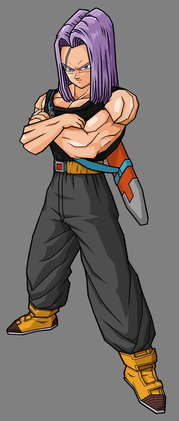 by future trunks and cell s trips to the past therefore the two trunks 627x1472