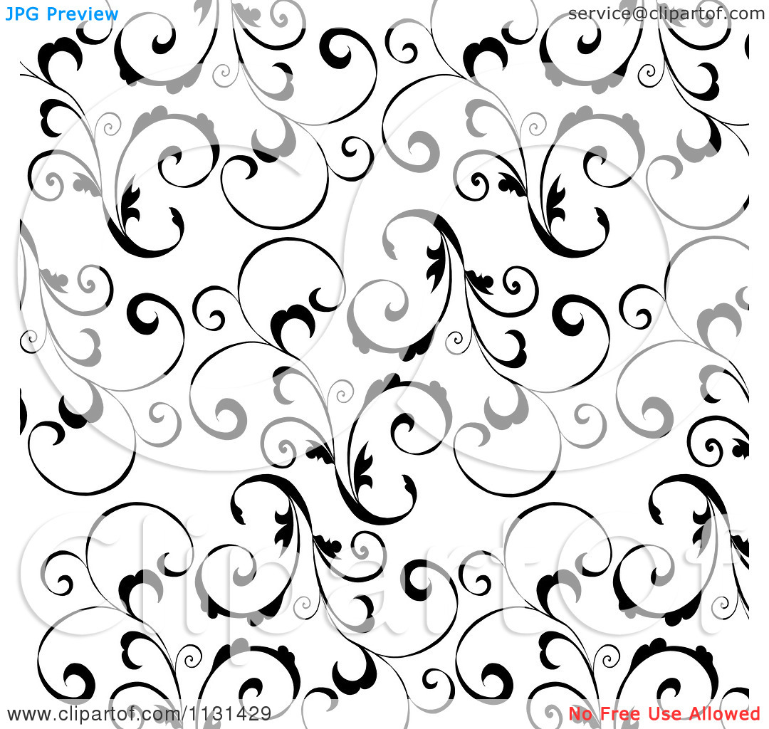 white swirls on black background
