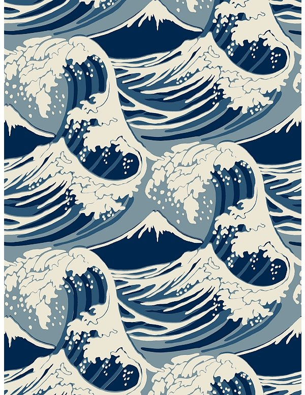 Hokusai Wave Wallpaper Cole Son Wave Wallpaper Has 600x779